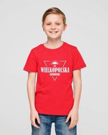 Koszulka bawełniana z nadrukiem  junior czerwona czarna
